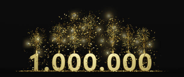 One million celebration illustration one million celebration illustration for followers, subscribers, prize... millionnaire stock pictures, royalty-free photos & images