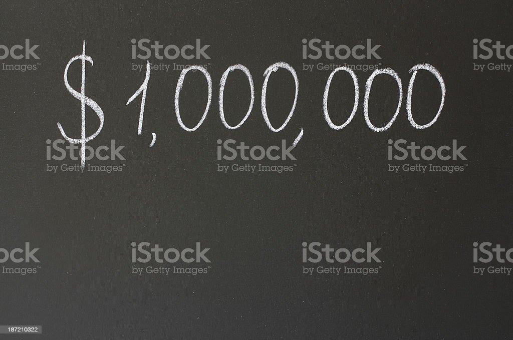 one million dollars stock photo