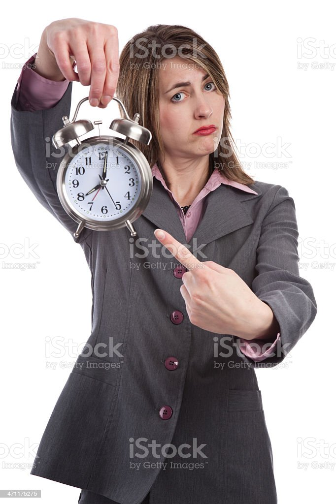 One Minute Late royalty-free stock photo