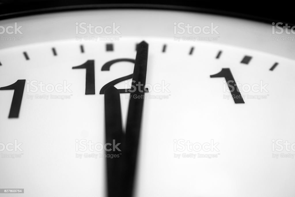One minute past midnight stock photo