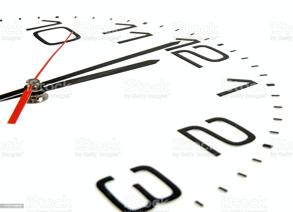 One minute to midnight royalty-free stock photo