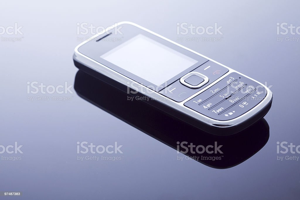 One modern mobile phone royalty-free stock photo