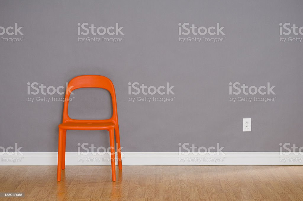 One Modern Plastic Chair stock photo