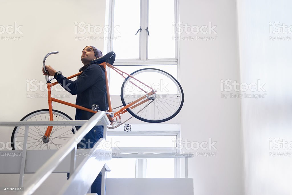 One more flight to go... stock photo