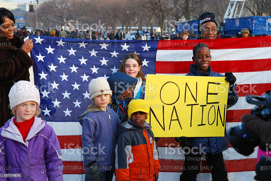 One nation stock photo