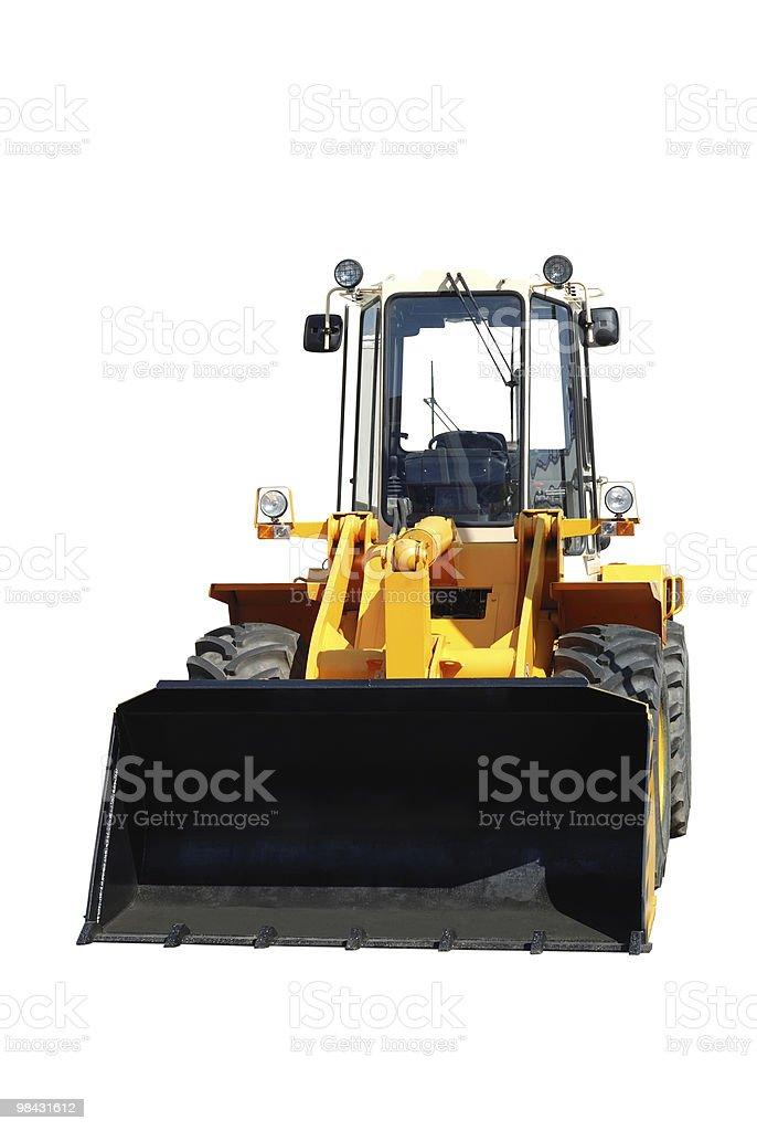One new bulldozer on white royalty-free stock photo
