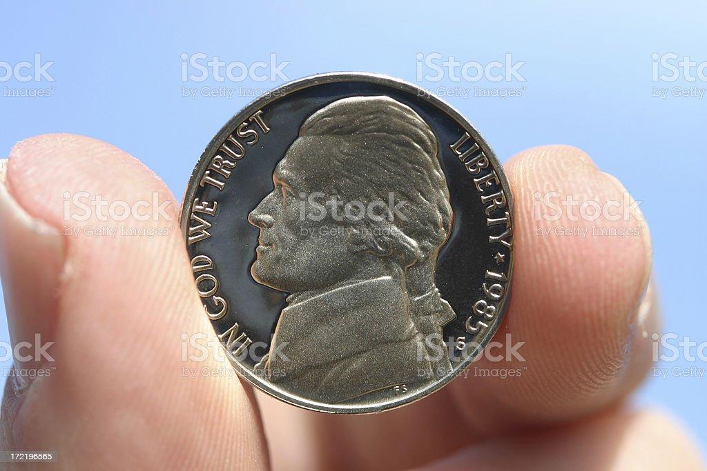 One Nickel stock photo