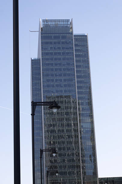 skyscraper office block at canary wharf - whiteway money stock photos and pictures