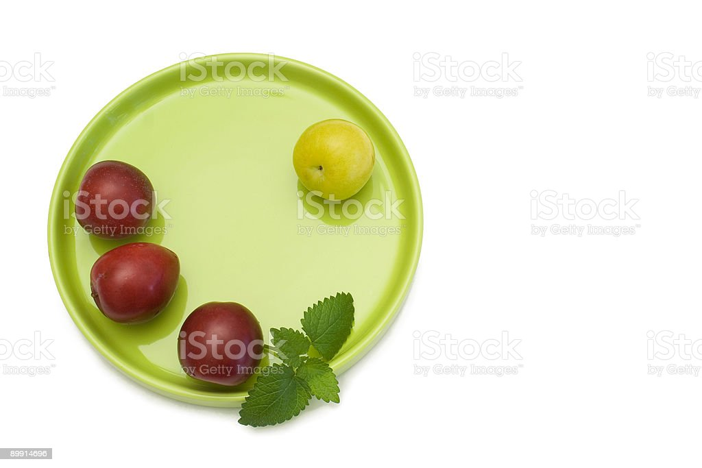 One of a Plum royalty-free stock photo