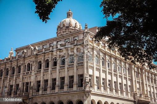 One Of Buildings In Town Square In Havana, Cuba