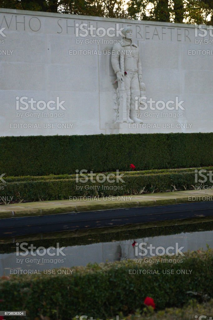 One of Four soldiers stock photo