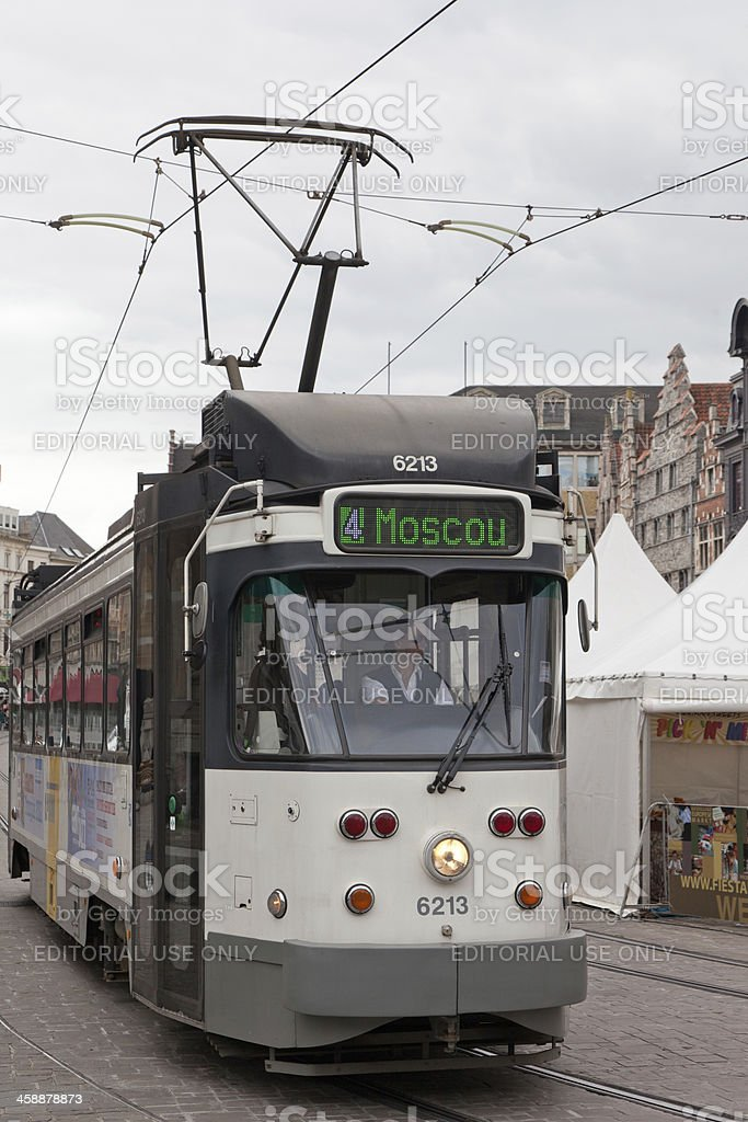 One of suburbs  Ghent is called Moscow (Moscou) royalty-free stock photo