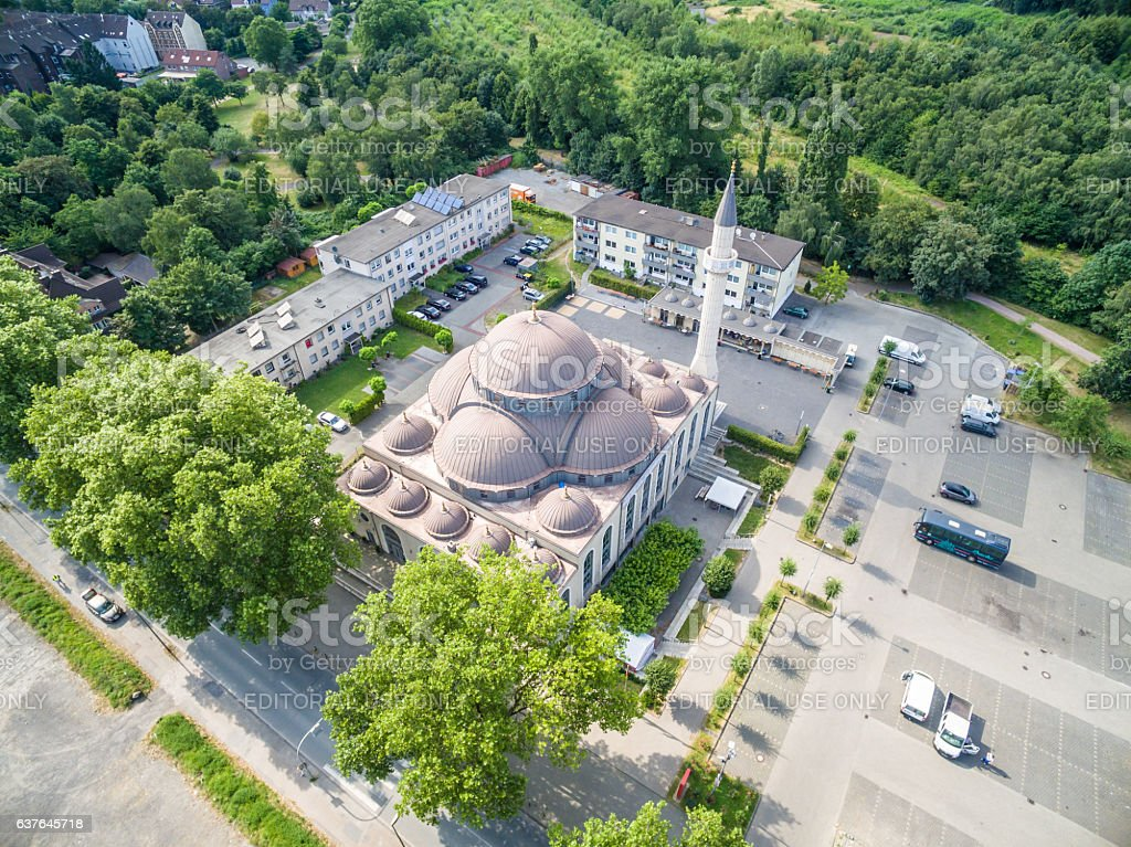 One of the biggest mosques in Germany stock photo