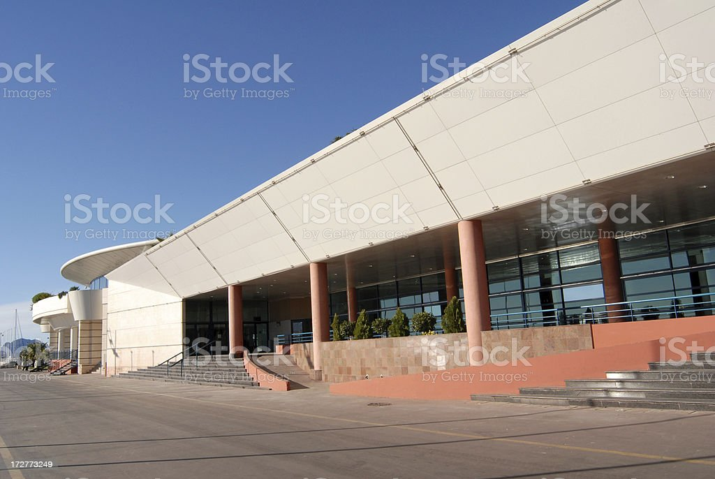 one of the entrance to Palais des Festivals in Cannes stock photo