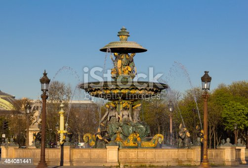 istock One of the fountains at Place de la Concorde 484081441
