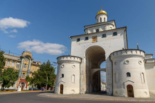 Eines der wichtigsten historischen Wahrzeichen der Stadt Wladimir-das Goldene Tor. Russland – Foto