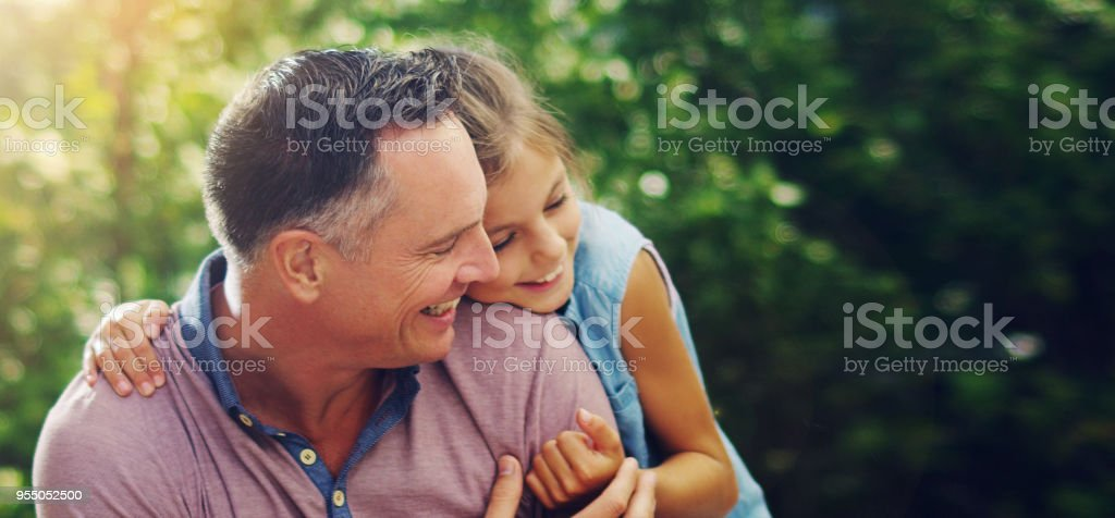 One of the most important relationships she'll ever have stock photo