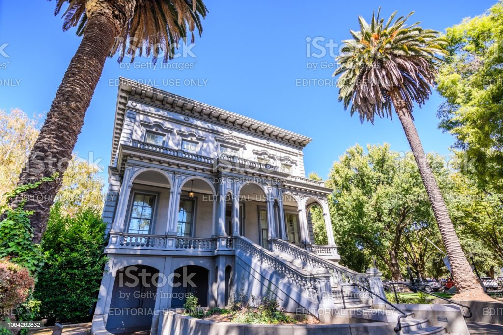 One of the old buildings old Crocker Art museum - Royalty-free Architecture Stock Photo