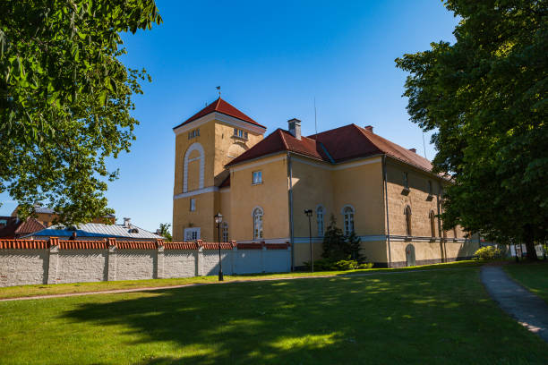 One of the oldest and most well-preserved Livonian Order castles remaining is Ventspils castle in Latvia stock photo