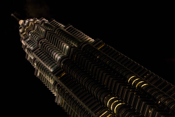 one of the Petronas's Twin Towers stock photo