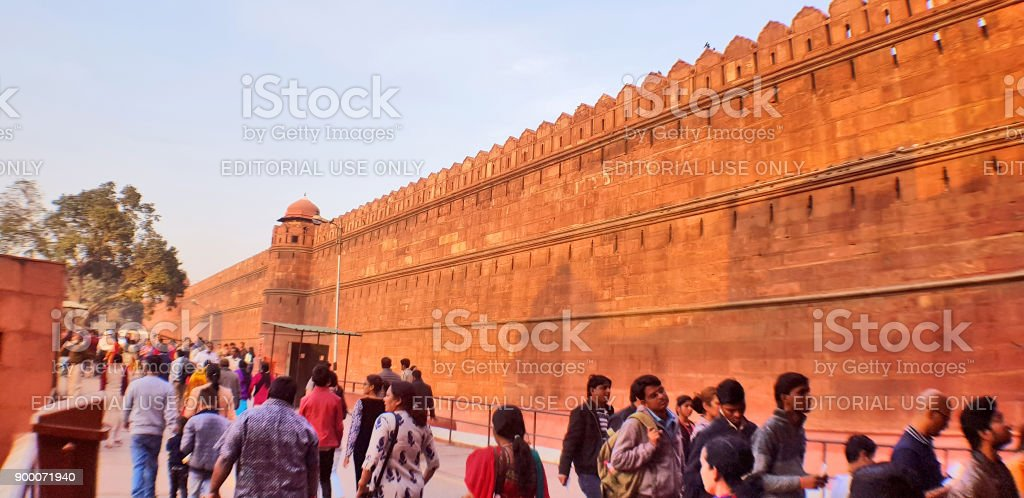 One of the rampart of Red Fort, Delhi stock photo