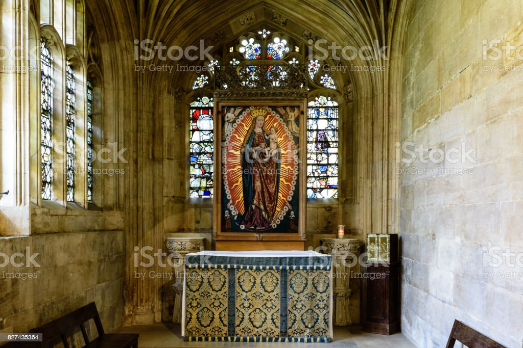 One of the Small Chapels in King's College Chapel Cambridge UK stock photo