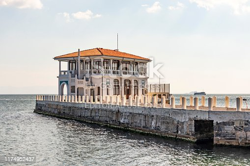 Moda,istanbul,Turkey- September 14,2019.General view from Moda pier in istanbul.One of the symbols of Kadıköy, the historical Moda Pier built 100 years ago by architect Vedat Tek.