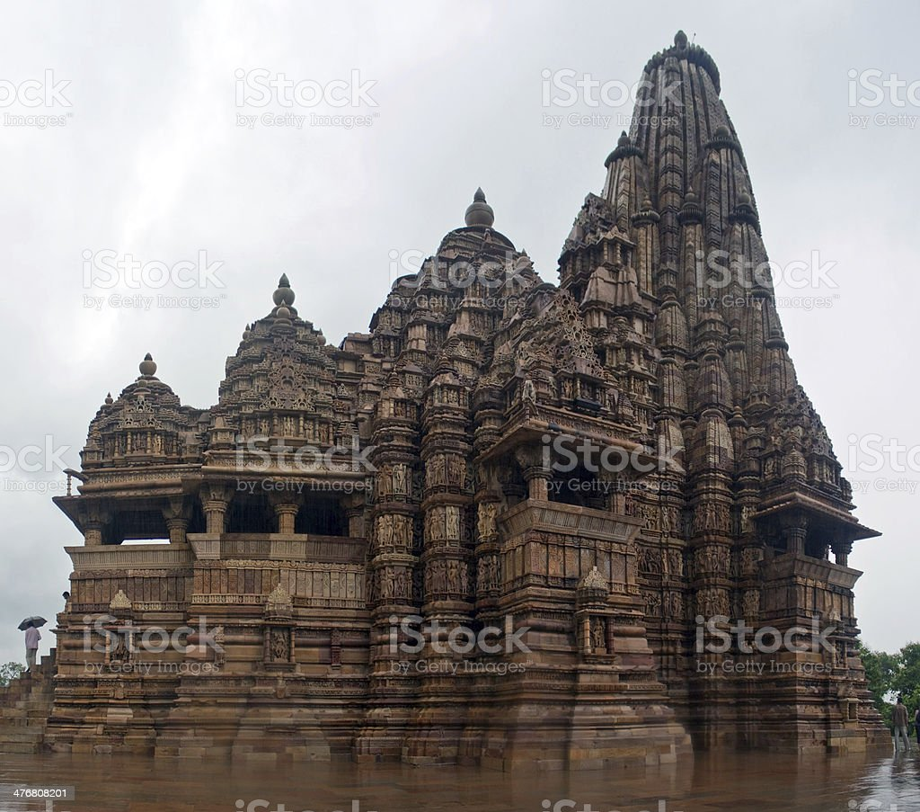 One of the temples in Khajuraho stock photo