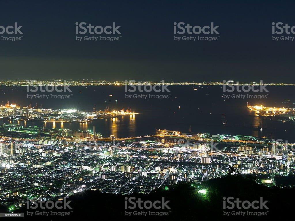3 つの主要な夜の眺め、日本 ロイヤリティフリーストックフォト