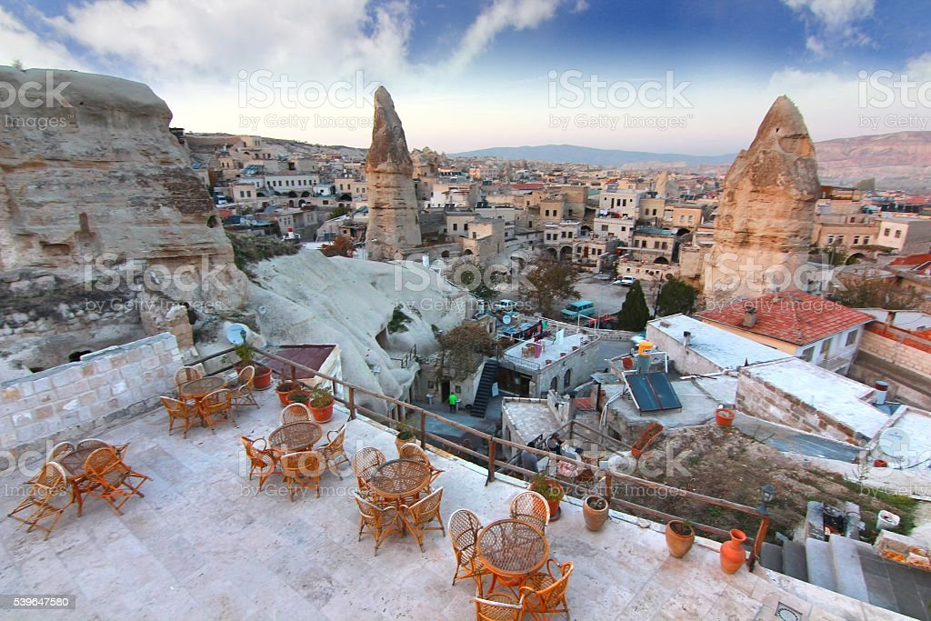 One of the wonders of the world ,Cappadocia, Turkey stock photo
