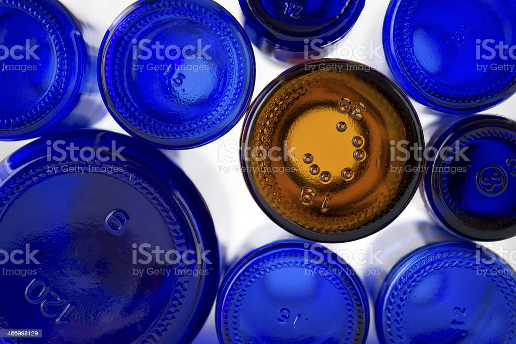One of these bottles is not like the others royalty-free stock photo