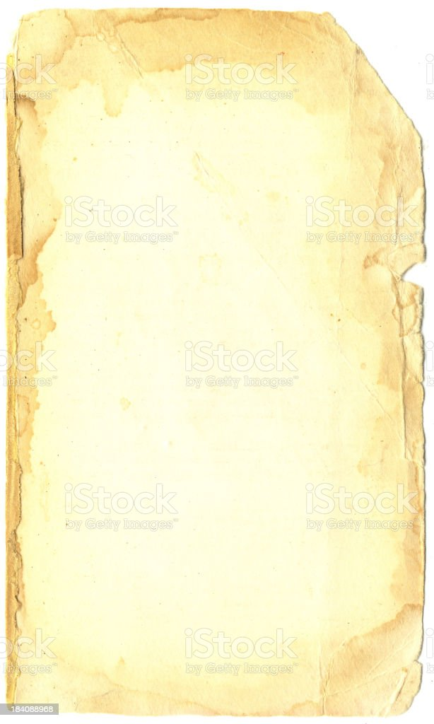 one old page royalty-free stock photo