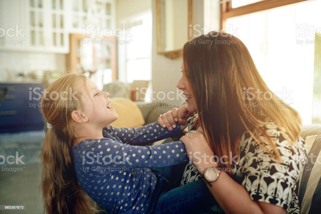 One on one time with Mom zbiór zdjęć royalty-free