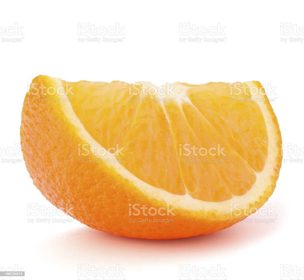 One orange fruit segment or cantle royalty-free stock photo