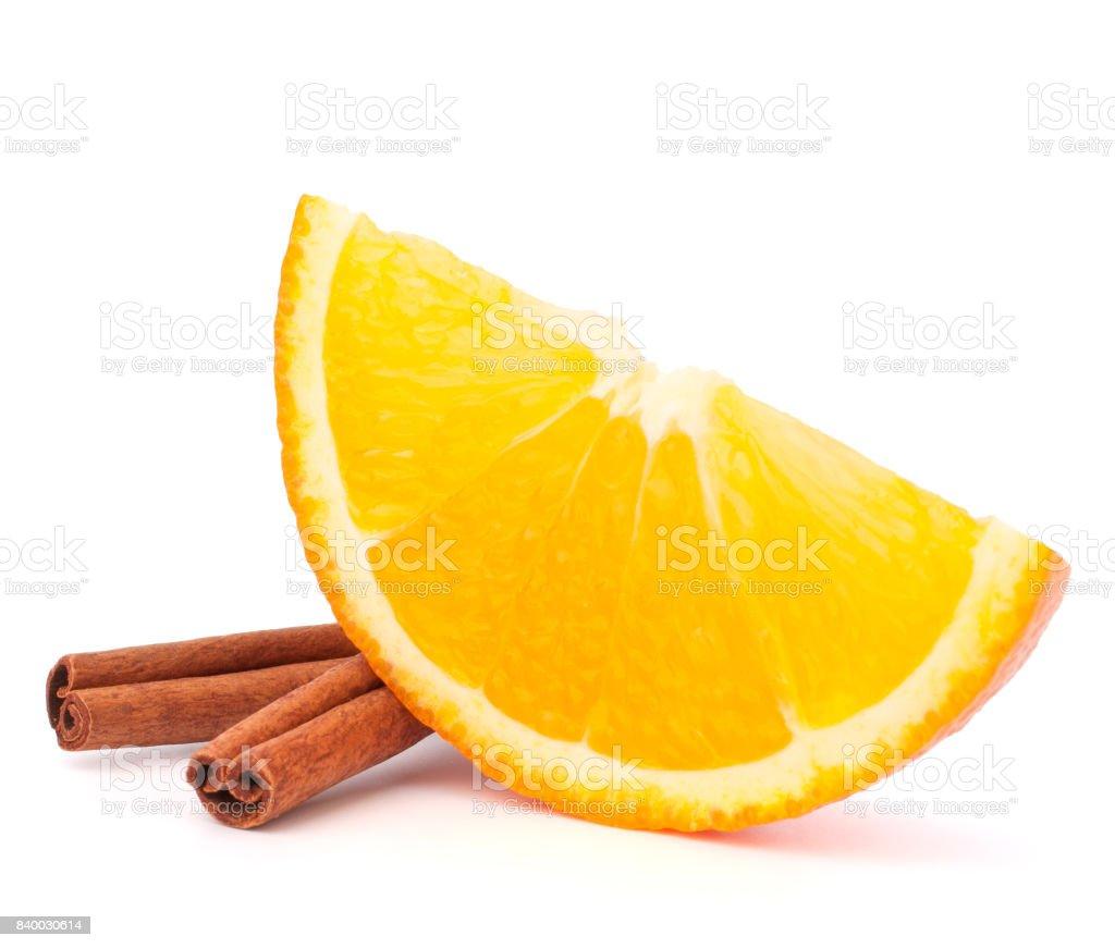 One orange fruit segment or cantle stock photo