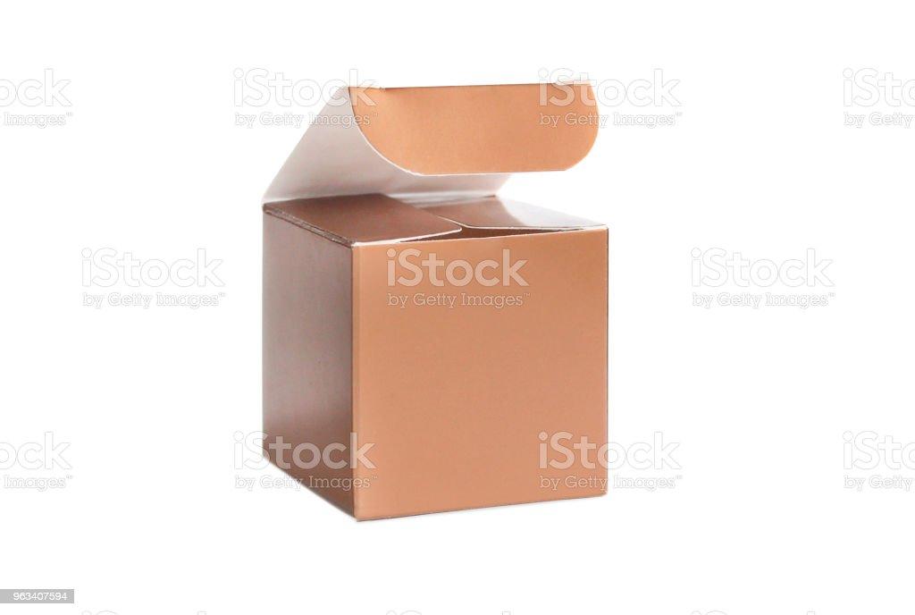 One orange open box - Zbiór zdjęć royalty-free (Bez ludzi)