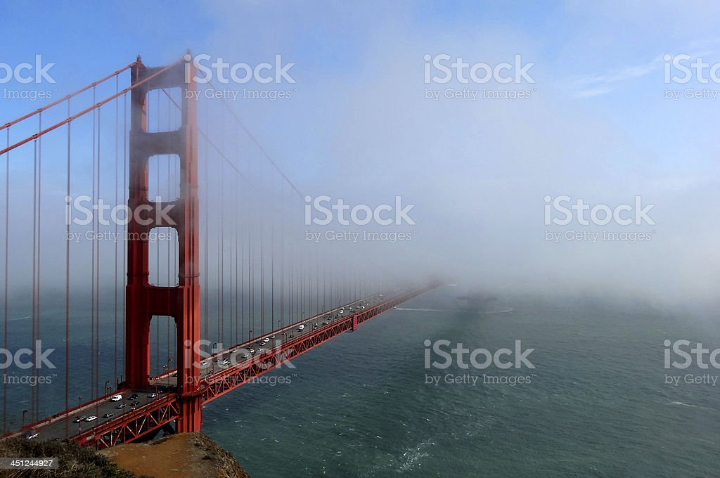 One Part of the Golden Gate Bridge royalty-free stock photo