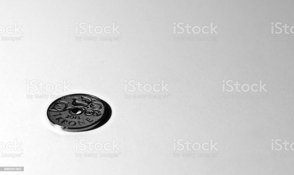 One penny left stock photo