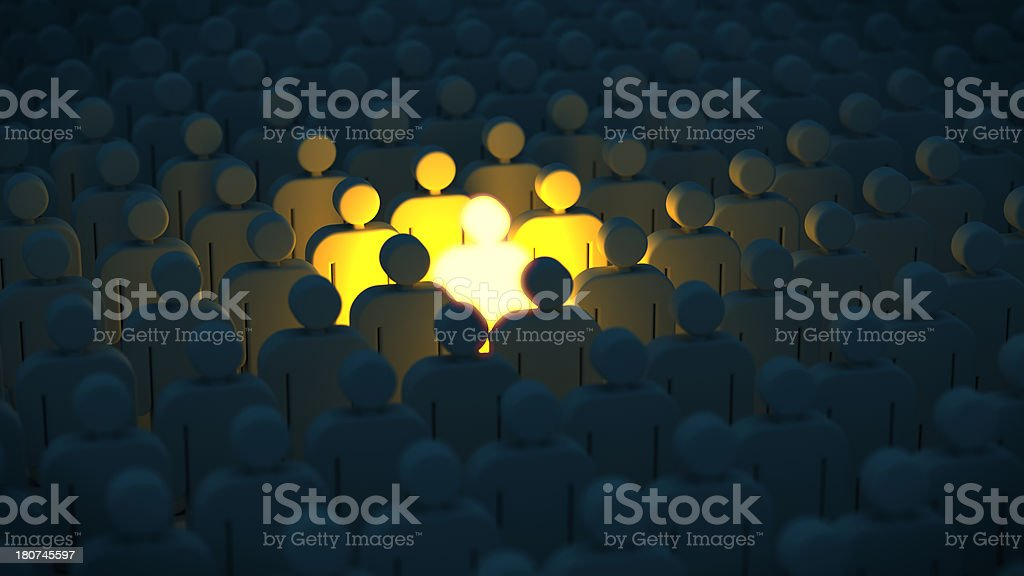 Una folla di persone in - foto stock