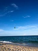Kitesurfing on Las Olas Beach, Fort Lauderdale, FL, USA