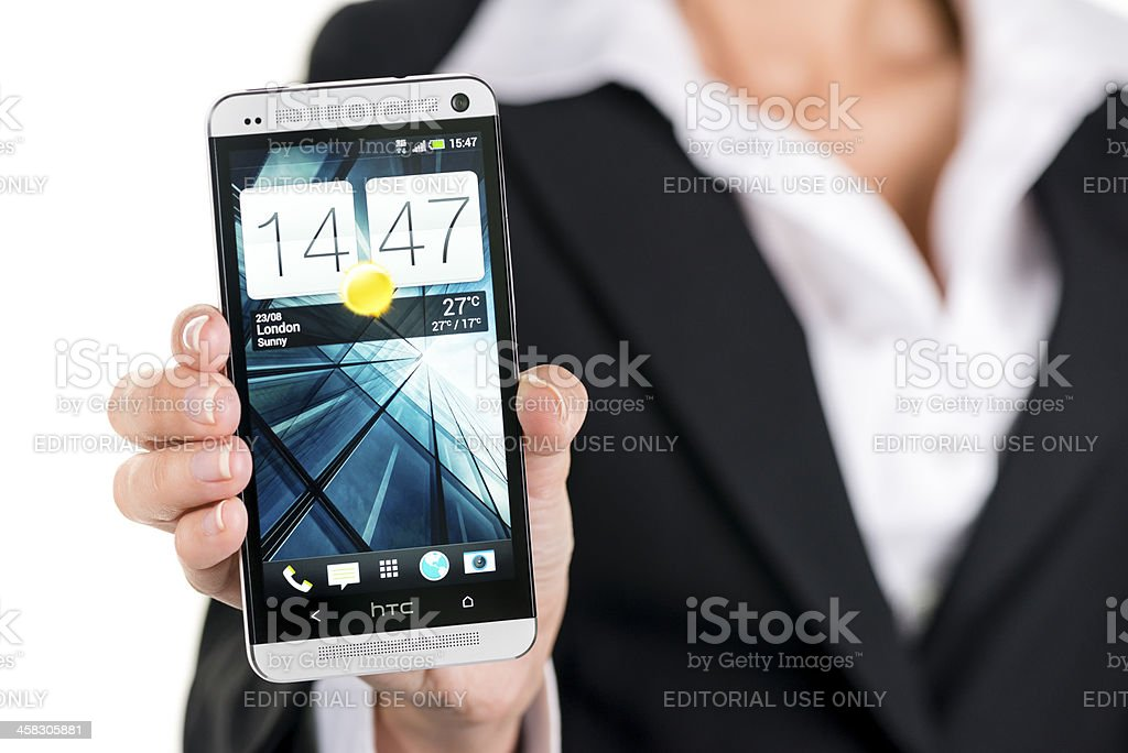 HTC One royalty-free stock photo