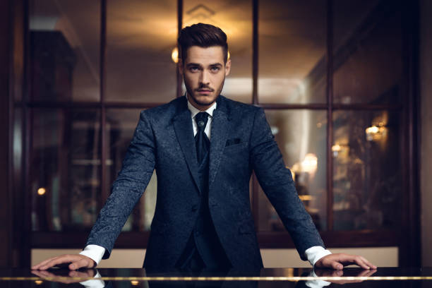 Man Portrait of a handsome man charming stock pictures, royalty-free photos & images