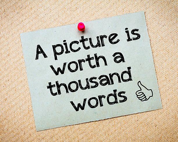 Ein Bild kann tausend Worte ersetzen – Foto