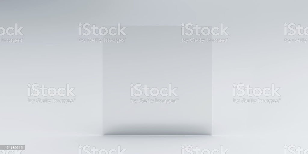 One piece of plate glass on white background royalty-free stock photo