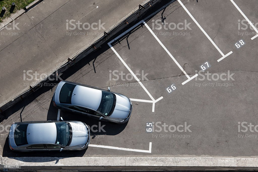 One place parking stock photo