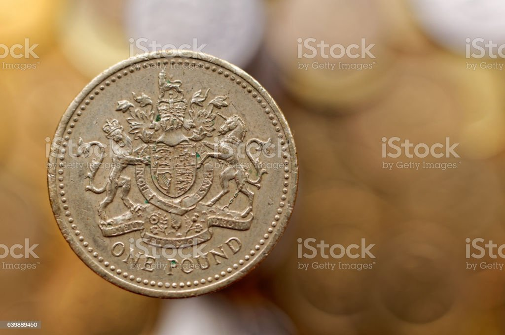 One Pound stock photo