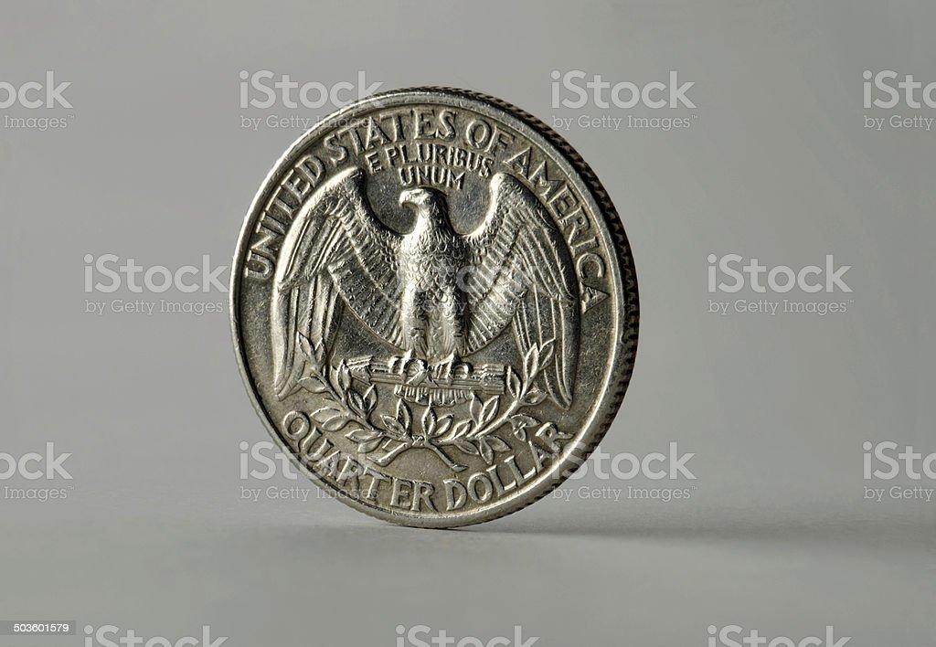 One quarter dollar stock photo