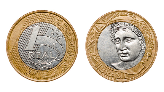 One Real Coin Front And Back Faces 照片檔及更多 一個物體 照片