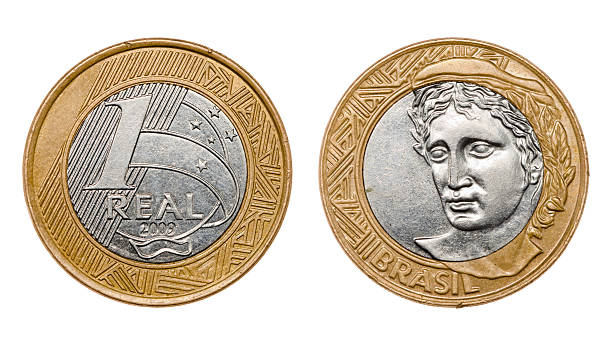 one real coin front and back faces - coin stock photos and pictures