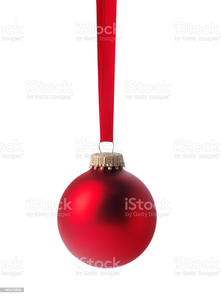 One Red Christmas Bauble royalty-free stock photo